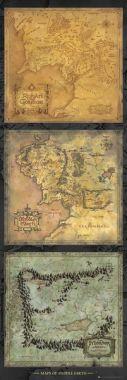 Властелин колец, Lord of the Rings, Карта, Триптих