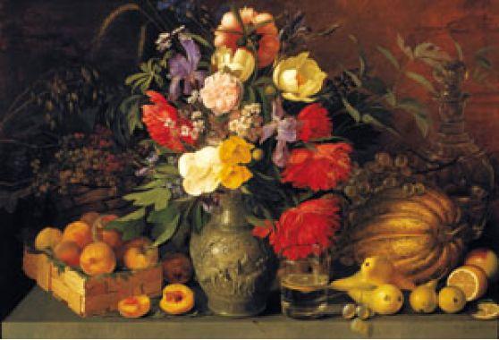 Натюрморт, И.Ф. Хруцкий, Цветы и плоды