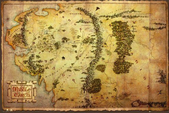Hobbit, Хоббит, Карта