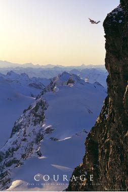Прыжок, Горы, Сourage