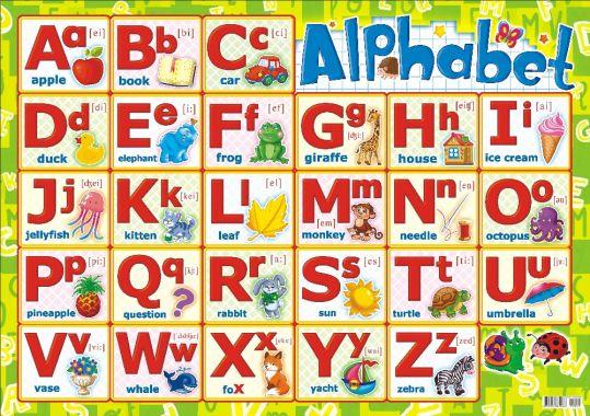 Английский Алфавит, Картон
