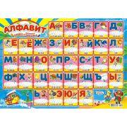 Алфавит, Картон, Возможность писать и стирать написанное на поверхности плаката