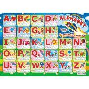 Английский Алфавит, Картон, Возможность писать и стирать написанное на поверхности плаката