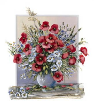 Красный букет, Цветы